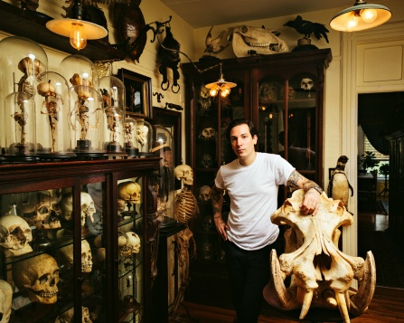 Collector and Artist Ryan Cohn at his Brooklyn apartment on August 21st 2014